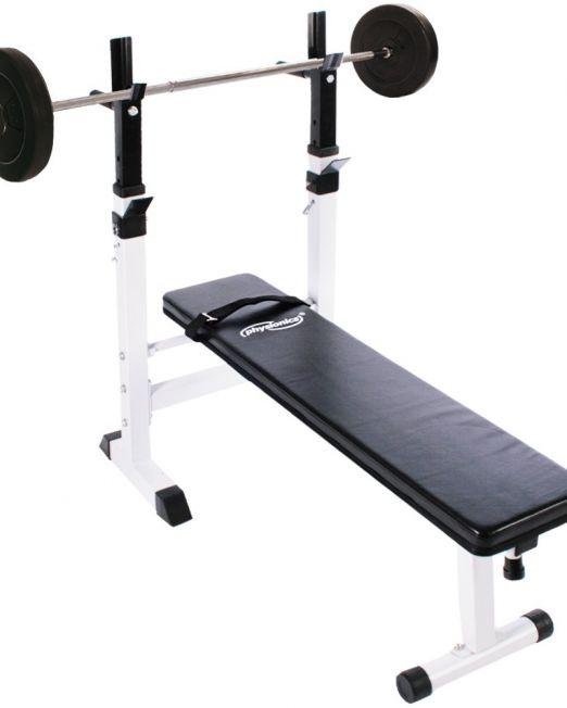 Physionics® Weight Bench 20 kg Barbell Set
