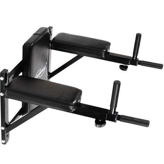 Wall mounted Dip Station for abs and back