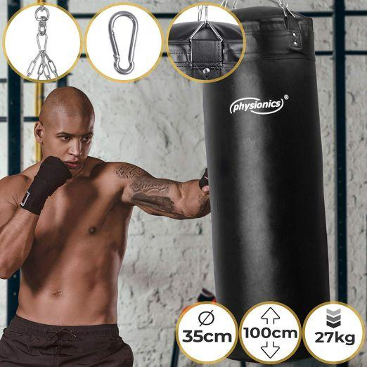 Boxing Bag (Black) Tear-Proof Punch Bag For Box and Fitness Training