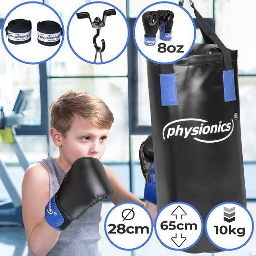 Ceiling Boxing Set Punch Bag with Boxing Gloves and Bracket for Kids