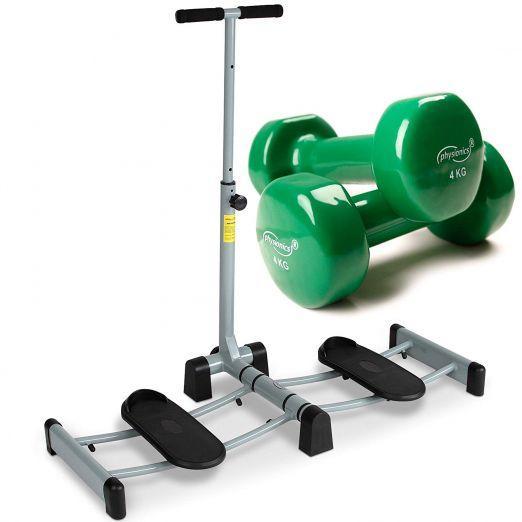 Leg Thigh Exerciser Machine + Vinyl Weights (2 x 4 kg) price