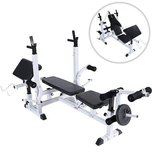 Multi-Function Training Bench including weights