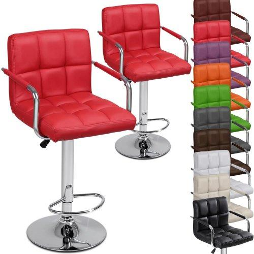 Adjustable Bar Stool with Arms and Foot Rest