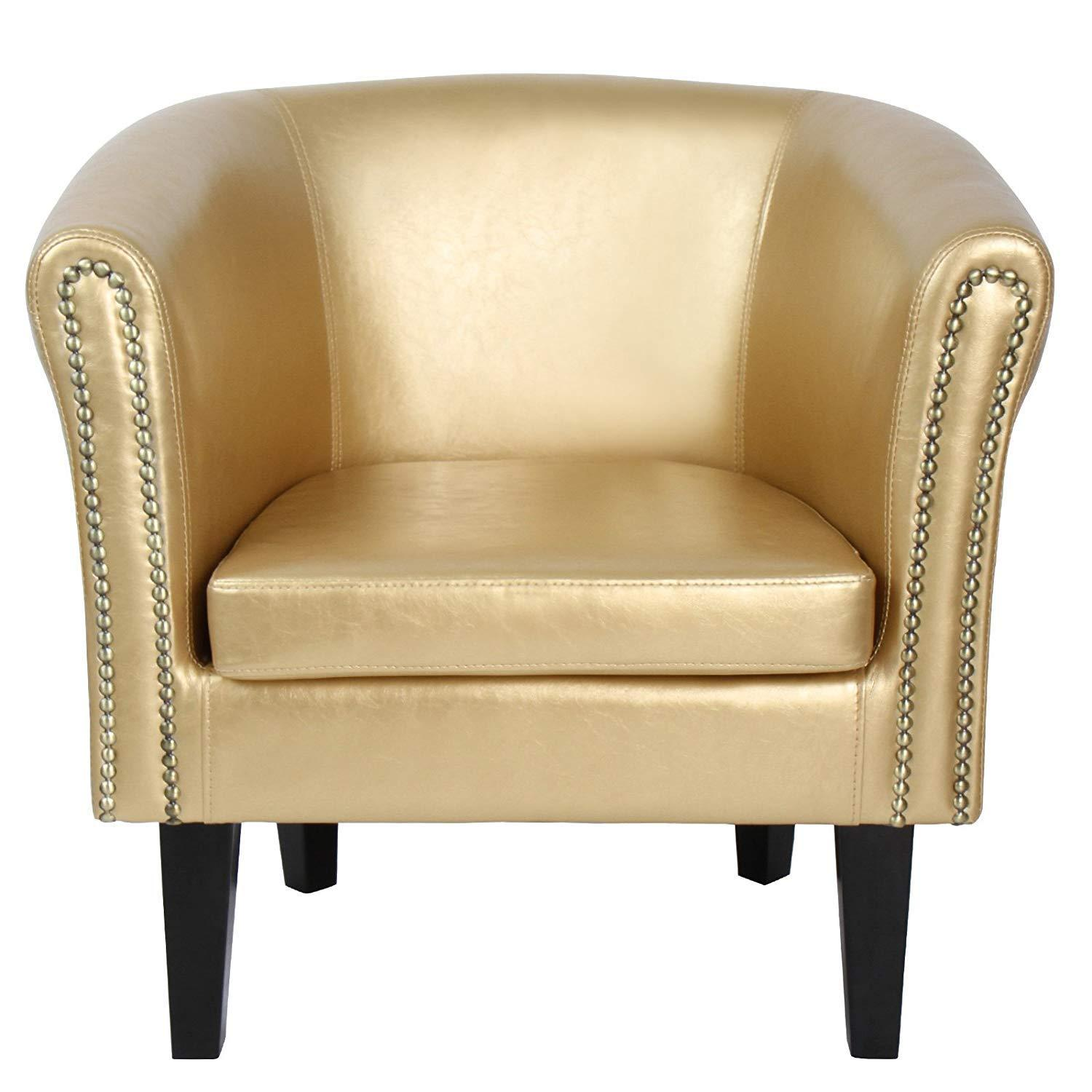 Chesterfield Armchair Stylish Tub Chair Home Furniture - Gold