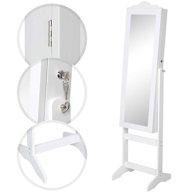 Jewellery cabinet with mirror dimensions
