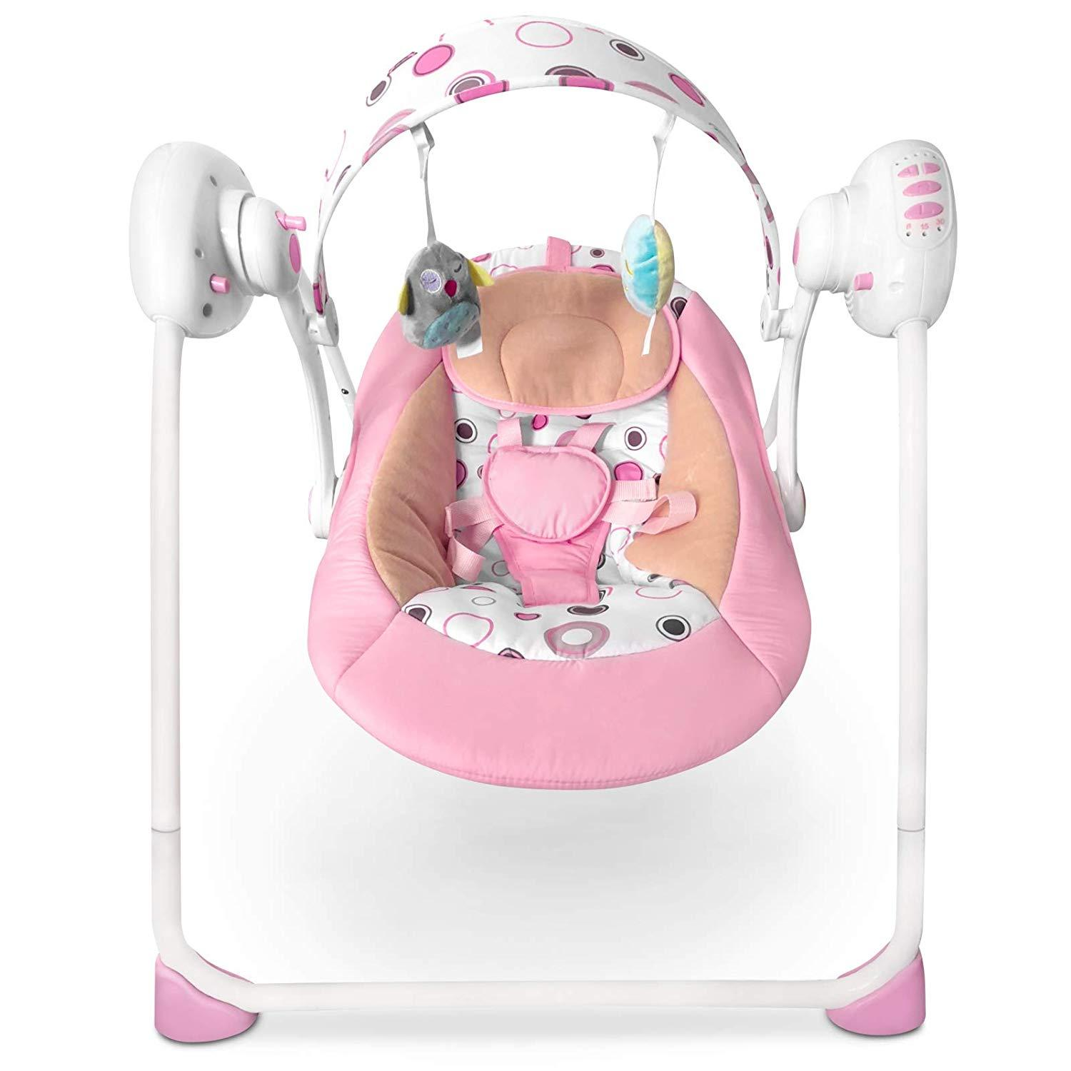 Child Baby Rocker Baby Carrier Swing Seat With 3 Point Safety