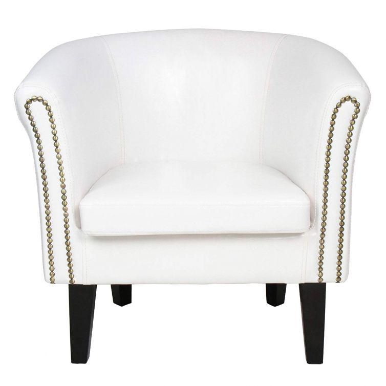 Chesterfield Armchair Stylish Tub Chair Home Furniture – White