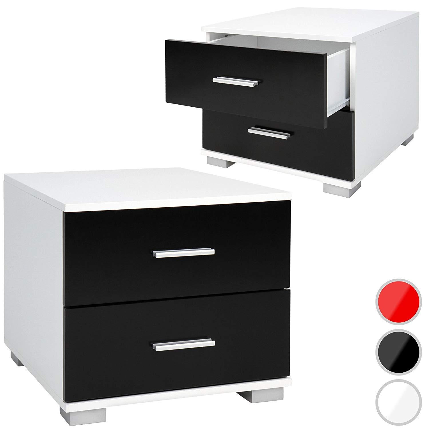 2 Drawers Bedroom Bedside Table Bedside Table Bedside Table Night Table - Choice of Colour and Set: Amazon.de: Küche & Haushalt